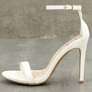 Loveliness White Ankle Strap Lulus Heels